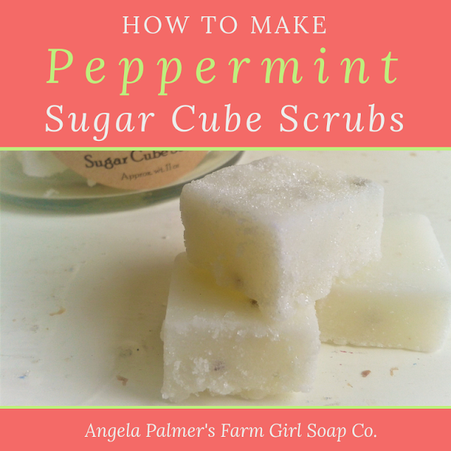 Peppermint Sugar Scrub Cubes DIY Recipe