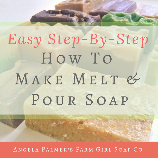 Ready to learn how to make melt and pour soap? These easy to follow step-by-step instructions will have you making your own beautiful handmade soap, even if you are a beginning soap maker. By Angela Palmer at Farm Girl Soap Co.