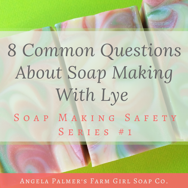 Ready to learn how to make your own soap? Got questions about working with lye? Here are answers t the 8 most common questions about making soap with lye.