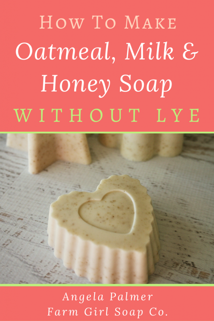 Learn how to make oatmeal and honey goat milk soap with this easy soap recipe for beginners. You make this soap without lye, using the simple melt and pour method.