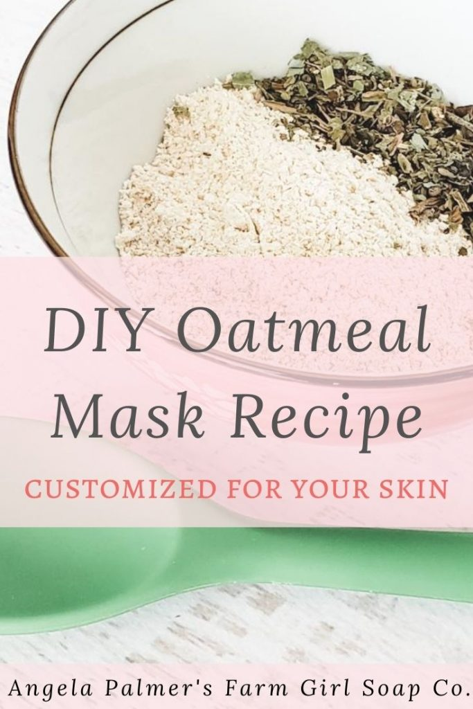 This DIY oatmeal mask recipe is super simple to whip up, and amazingly good for your skin. Learn how to make this DIY oatmeal mask recipe plus get ideas on how to customize it for your skin. By Angela Palmer's Farm Girl Soap Co.