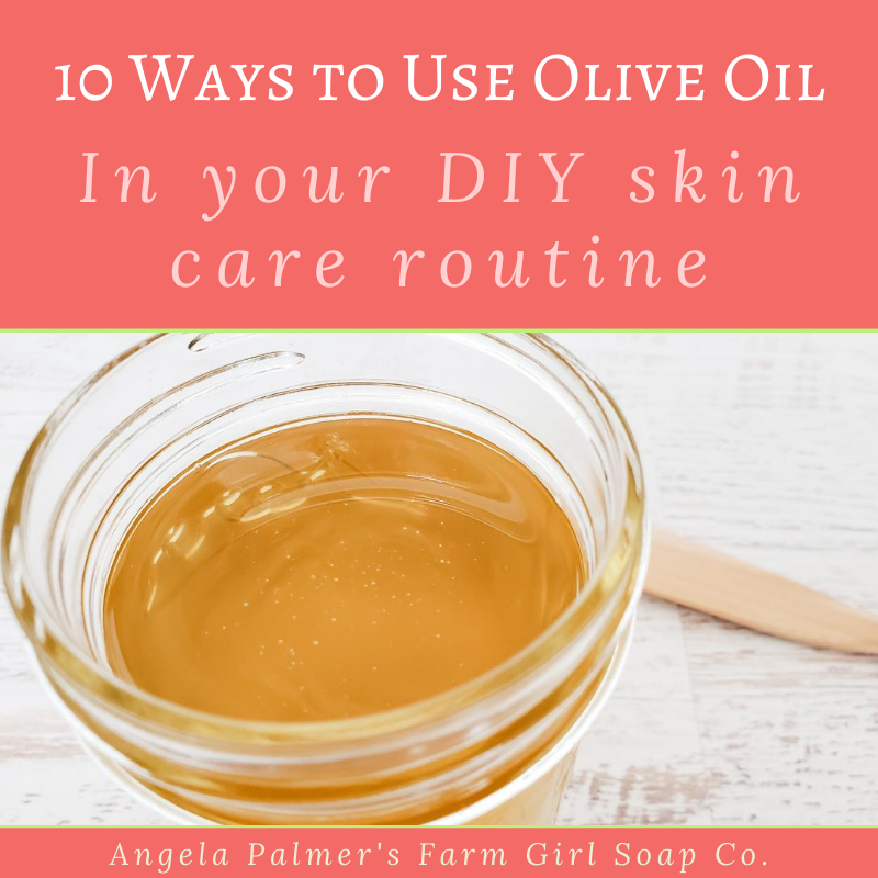 This simple kitchen staple is a surprisingly versatile DIY skin care ingredient. Learn how to use olive oil for the skin and hair with these 10 easy tips. By Angela Palmer at Farm Girl Soap Co.